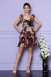 rochii de zi cu imprimeuri florale de vara